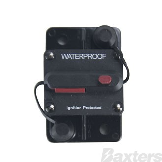 Circuit Breaker Thermal 12-30Vdc 200A Surface Mount Manual Reset Ignition Protected IP67