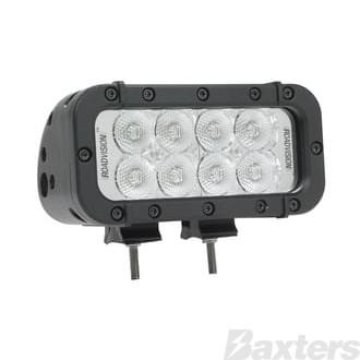 LED Bar/Work Lamp Floor Rect 9-32V 8 LED IP68 1440lm 28W Black Housing