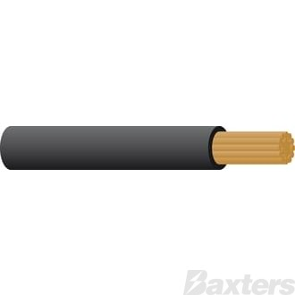 Battery Cable 000 B & S, Black, 30m