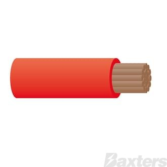 Battery Cable 000 B&S - Red 30m