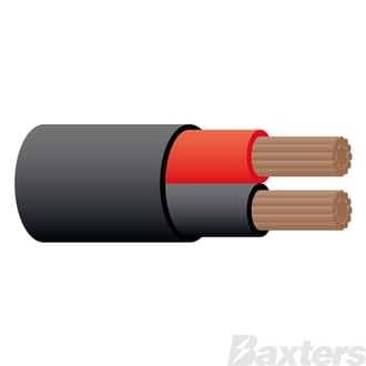 2mm Twin Sheath Cable - Red/Black 100m