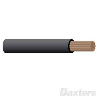 3mm Single Core Cable - Black 30m