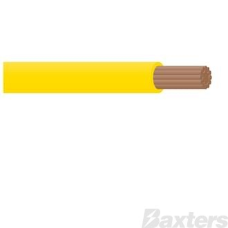 3mm Single Core Cable - Yellow 30m