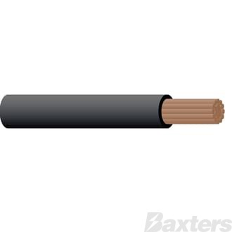 3mm Single Core Cable - Black 100m