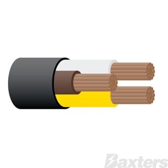 3mm 3 Core Trailer Cable 30m