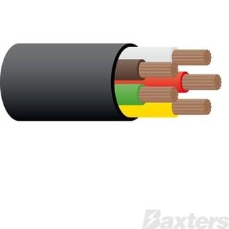 3mm 5 Core Trailer Cable - Black 100m