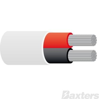 4mm Twin Sheath Marine Cable - White 50m