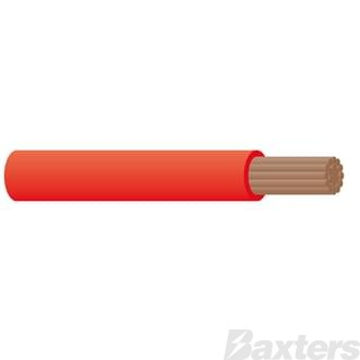 5mm Single Core Cable - Red 30m