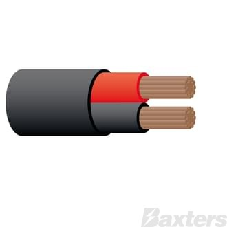 5mm Twin Sheath Cable Red/Black30m