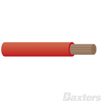 6mm Single Core Cable - Red 30m
