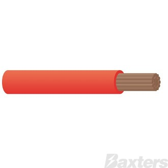 6mm Single Core Cable - Red 100m