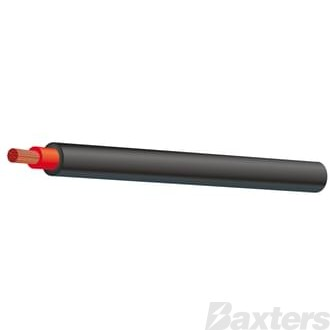 6mm Double Insulated (gas wire) Black 30m