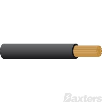Battery Cable 1 B&S - Black 30m
