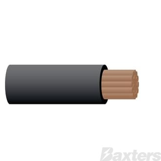 Battery Cable 2 B & S, Black, 100m
