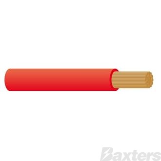 Battery Cable 2 B&S - Red 100m