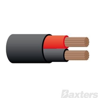 6 B&S Twin Sheathed Battery Cable - Red/Black 50m