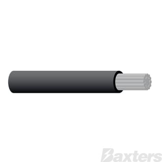 6 B&S Twin Sheath Marine Cable - Black 30m