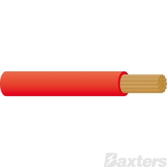 Battery Cable 0 B&S - Red 30m