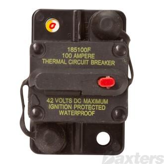 Circuit Breaker Hi Amp Thermal 100A 42VDC Type III Manual Reset