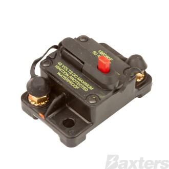 Circuit Breaker Hi Amp Thermal 60A 42VDC Type III Manual Reset