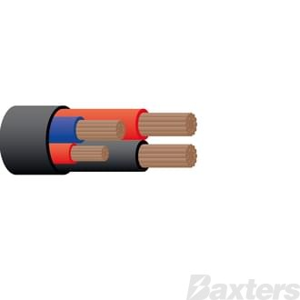 Cable 4 Core Sheathed, 6 B&S x 2, 5mm Blue x 1, 4mm Red x 1, 30M