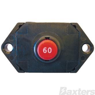 Circuit Breaker Klixon Surface Mount 50A 12-30VDC  Manual Reset