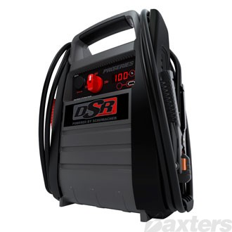 DSR Pro Series Jump Starter Booster 12/24V 1800/900CA, 12V DC Outlet, USB Outlet