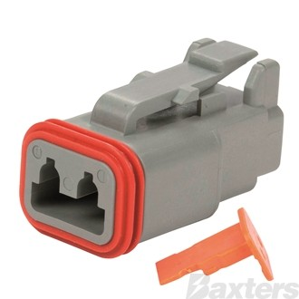 Socket Connector DT 2 Way With Wedge