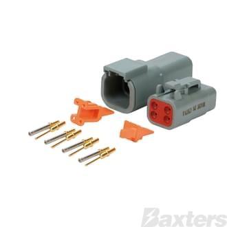 DTM Series Connectors (Miniature), 4 circuit