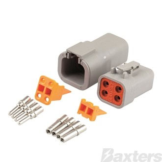 CONNECTOR KIT COMPLETE DTP 4 WAY SOLID CONTACT