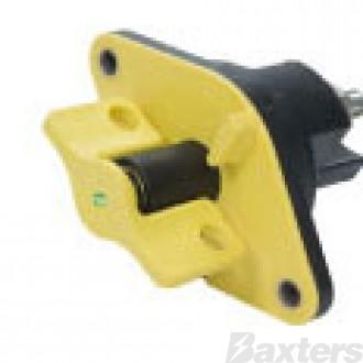Manual Battery Disconnect Yellow 12/24V 500A Single Pole Visual Indicator IP67 Rating