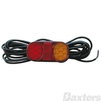 LED Combination Lamp Single 10-30V Stop/Tail/Indicator/Reflector 162x80mm LH Submersible 7.2m Lead