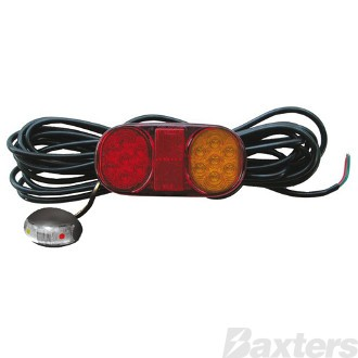 LED Combination Lamp Single 10-30V Stop/Tail/Ind/Ref 162x80mm Submersible with BR3AR Marker LH 8.3MT LEAD