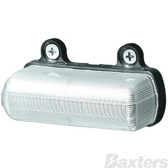LED Licence Plate Lamp 10-30V Rect 81 X 41mm Top Mount Opaque Body