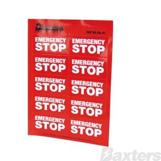 Label Emergency Stop Red [10 Pcs Per Sheet]