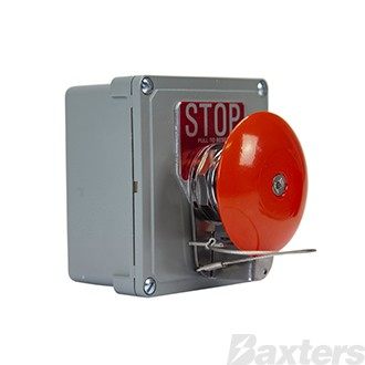 Emergency Stop Switch Eaton Push Pull Normally Open Contact Normally Closed Contact Metal Enclosure Red Mushroom Head
