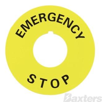 EMERGENCY STOP SWITCH TAB FOR SW-K174 22mm Inside Diameter