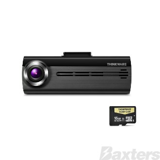 Thinkware F200 Dash Cam Front / Rear 2 Channel 12 / 24 Volt Wifi Onboard 16GD SD Card *** Rear Camera Not Included ***