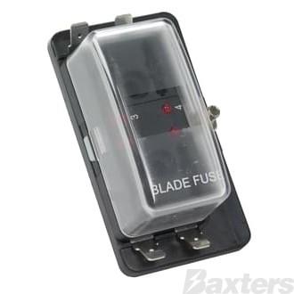 Fuse Box Wedge Fuse 4 Block LED Warning