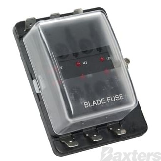 Fuse Box Standard Wedge Fuse Type 6 Block With LED Indicator When Circuit Becomes Open
