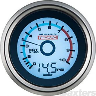 Redarc EGT & Boost Pressure 52mm Gauge
