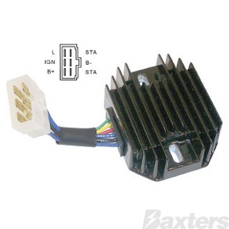 Regulator Rectifier Combination External 12V 22A Suits Lawn Equipment Cub Cadet Grasshopper Kokusan Denki Kubota Perkins Yanmar