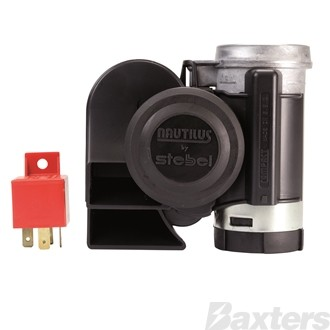 Nautilus Compact Air Horn Set 12V Twin Tone High & Low ** Can Use Ho-419 ***