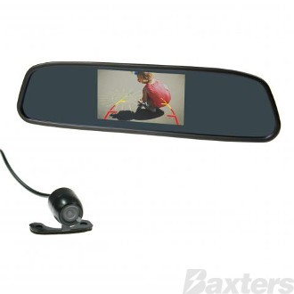 "Gator Reverse Camera Kit Mirror Mount 4.3"" Display 12V"