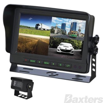 Gator Rear View Camera Kit12/24v 9 Inch 1-4 View Split Screen Monitor 1-4 Camera Compatible Kit Includes 1 Camera And 1 x 10 Metre Cable Trade Series