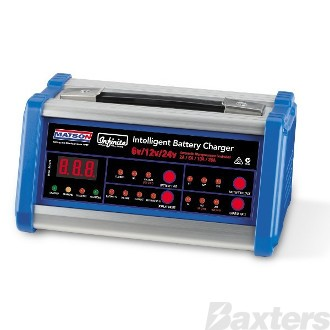 Battery Charger Matson 6/12/24V 6/12V:2/10/20A 24V: 2/5/10A