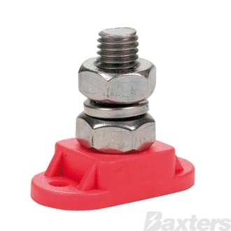 Insulated Stud 10mm Red