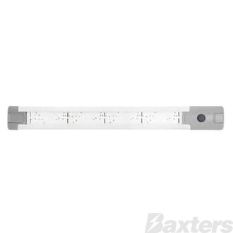 LED Interior Strip Lamp White 10-30V 48 LED IP67 4W 290mm 288lm With Switch