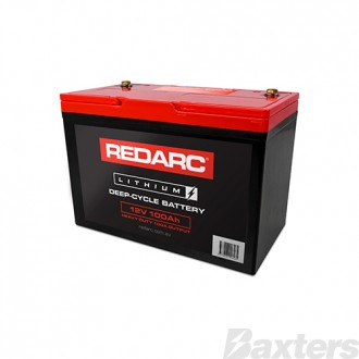 12V 100AH Lithium Deep Cycle Battery Heavy Duty Redarc
