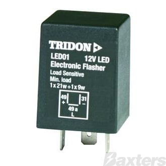 Flasher Can LED Tridon 12V 3 Pin Load Sensitive